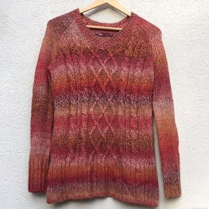 Prana ombré fall colors sweaters small